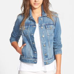 Women's Paige Denim 'Rowan' Crop Denim Jacket, Size Large - Blue | Nordstrom
