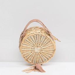 South Beach Round Straw Cross Body Bag With Tassel | ASOS US