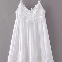 Contrast Lace Applique Cami Dress | SHEIN