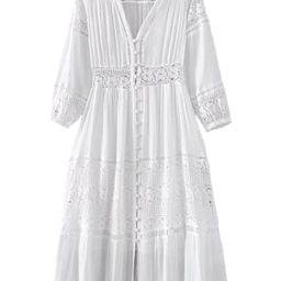 'Vinnie' Lace Pleated V-neck Maxi Dress | Goodnight Macaroon