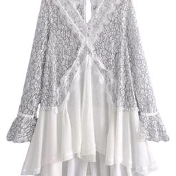 'Merle' Frilly Lace Crochet Tunic (3 Colors) | Goodnight Macaroon