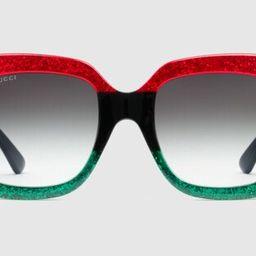 Square-frame acetate sunglasses | Gucci (US)