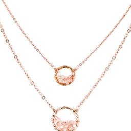 Crystal Circle Double Chain Necklace   Nordstrom