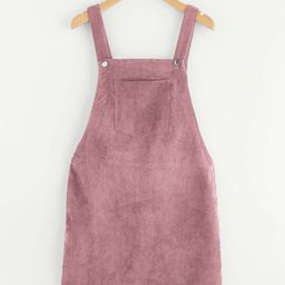 Bib Pocket Front Overall Dress | SHEIN