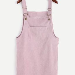Corduroy Overall Dress With Pocket | SHEIN