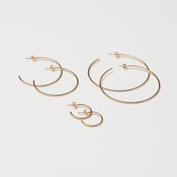 H & M - 3 Pairs Earrings - Gold | H&M (US)