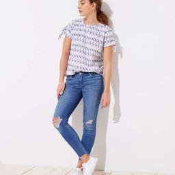 Modern Step Hem Skinny Jeans in Light Vintage Wash | LOFT