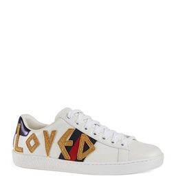 Ace Loved Leather Trainer Sneaker   Neiman Marcus