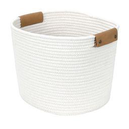 13 Square Base Tapered Basket Medium Cream (Ivory) - Threshold   Target