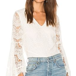 MINKPINK Tainted Love Lace Blouse in Off White | Revolve Clothing (Global)