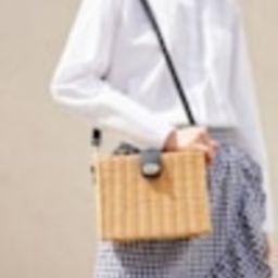 Bamboo basket bag - Woman   MANGO (UK)