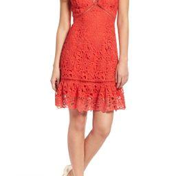 Ruffle Hem Lace Dress   Nordstrom