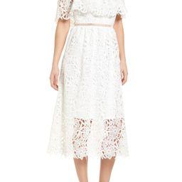 Lace Off the Shoulder Midi Dress   Nordstrom