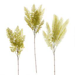 Faux Fern Plant Stems Set of 3   World Market