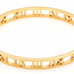 Gold Roman Numeral Hinged Bangle | Accessory Concierge