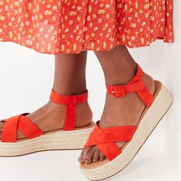 Cora Flatform Espadrille Sandal   Urban Outfitters (US and RoW)
