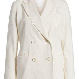 Double Breasted Linen Blend Blazer | Nordstrom