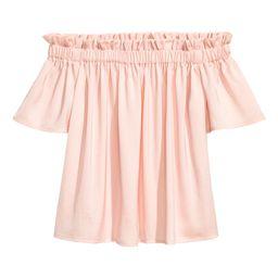 H&M Off-the-shoulder Blouse $7.99 | H&M (US)