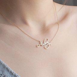 Custom Name Necklace - Personalized Name Necklace - Minimal Name Jewelry - Custom Word Necklace - Go | Etsy (US)