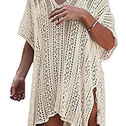 Loritta Women Beach Cover Bathing Suit Covers Bikini Swimwear Covers up Crochet Dresses   Amazon (US)