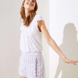 Striped Ruffle Shorts   LOFT