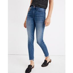 "9"" High-Rise Skinny Crop Jeans: Destructed-Hem Edition | Madewell"