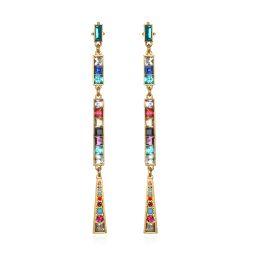 Rainbow Mosaic Drop Earrings   Sequin