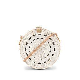 ellen & james Medium Round Classic Bag in White | Revolve Clothing (Global)