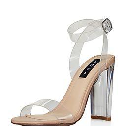 Aqua Women's Luna Clear High-Heel Sandals | Bloomingdale's (US)