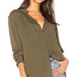 Sanctuary Uptown Boyfriend Button Up in Fatigue   Revolve Clothing (Global)