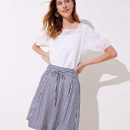 Striped Tie Waist Skirt | LOFT