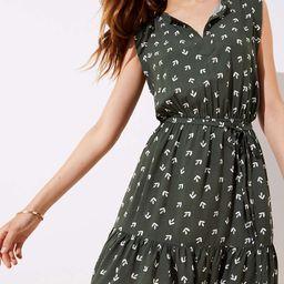 Arrow Smocked Ruffle Tie Waist Dress | LOFT