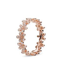PANDORA Dazzling Daisy Band Ring - Cubic Zirconia / Rose   Pandora (UK)