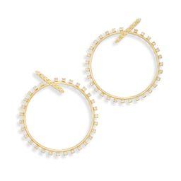 Charlie Grace Hoop Earrings in Gold | Kendra Scott