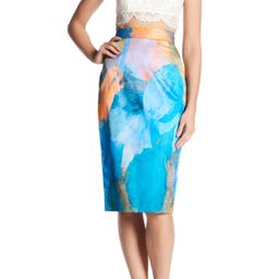 MILLY | Watercolor Print Midi Skirt | Nordstrom Rack | Nordstrom Rack