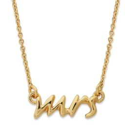 kate spade new york Necklace, 12k Gold-Plated Say Yes Mrs. Pendant Necklace   Macys (US)