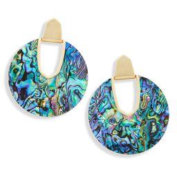 Diane Gold Statement Earrings in Abalone Shell   Kendra Scott