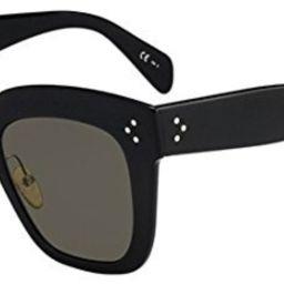 Celine Kim CL 41444 07G Blue Plastic Square Sunglasses Brown Lens   Amazon (US)