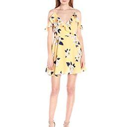 J.O.A. JOA Women's Flower Print Cold Shoulder Flare Dress   Amazon (US)