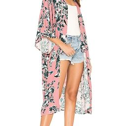 Painted Floral Kimono   Revolve Clothing (Global)