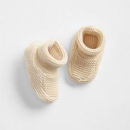 Gap Women Baby Girls Baby Boys Knit Booties French Vanilla Size 0-3 M | Gap US