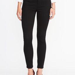 Old Navy Womens High-Rise Rockstar 24/7 Super Skinny Black Jeans For Women Black Size 4   Old Navy US