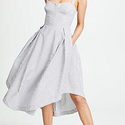 Seersucker Bustier Dress   Shopbop