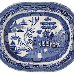 Wedgwood Blue Willow Platter   One Kings Lane