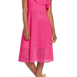 Lilly Pulitzer® Callisto Ruffle One-Shoulder Midi Dress   Nordstrom