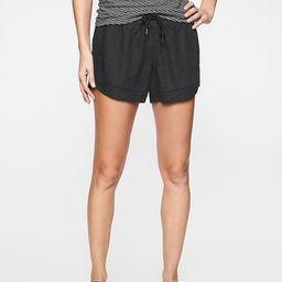 Athleta Womens Bali Linen Short Black Size 0   Athleta