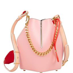 Alexander McQueen Pink Leather Small Bucket Bag Pink 1Size | Intermix