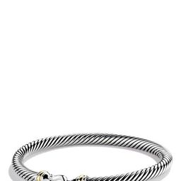 David Yurman Cable Classic Buckle Bracelet with 18K Gold, 5mm   Nordstrom