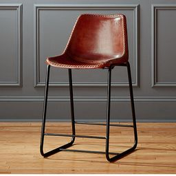 """roadhouse 24"""" leather counter stool 