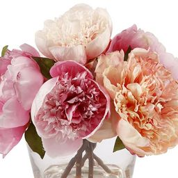 Faux Peony in Glass Vase   Pottery Barn (US)